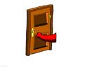 bild stänga dörren - spara energi