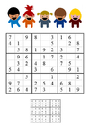 bild sudoku - barn