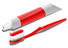 bild tandborste och tandkräm