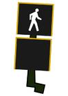 bild trafikljus för fotgängare - gå