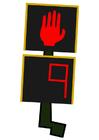 bild trafikljus för fotgängare - stopp