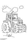 Målarbild traktor