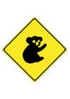 bild vägmärke - koala