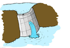 bild vattenkraft - damm