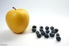 Foto äpple och blåbär