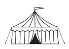 Målarbild cirkustält