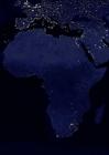 Foto Jorden på natten - urbaniserade områden, Afrika