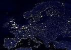 Foto Jorden på natten  - urbaniserade områden, Europa