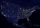 Foto Jorden på natten - urbaniserade områden, Nordamerika