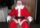 Foto jultomten på släden