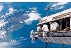 Foto rymdpromenad
