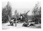 Foto soldater laddar kanoner - Frankrike