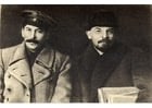 Foto Stalin och Lenin