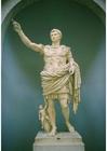 Foto staty av kejsar Augustus
