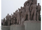 Foto staty på Tienanmen-torget