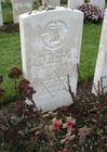 Foto Tyne Cot-kyrkogården - en judisk soldats grav