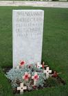 Foto Tyne Cot-kyrkogården - en tysk soldats grav