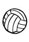 Målarbild volleyboll