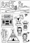 Hantverk cowboys och indianer show-box