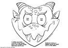 Hantverk drak mask