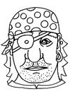 Hantverk Pirat mask