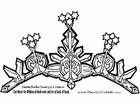 Hantverk snöflinge fe krona