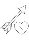 Hantverk Valentine hjärta - Cupido