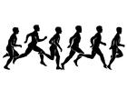 Målarbild 1 B - löpning