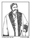 Målarbild 21 Chester Arthur