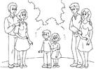 Målarbild 3. föräldrar med nya partner