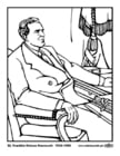 Målarbild 32 Franklin Delano Roosevelt