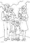 Målarbild 5. pappas nya familj