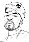 Målarbild 50 Cent
