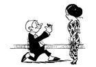 Målarbild äktenskapsförslag