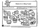Målarbild A-vitamin i vÃ¥r mat