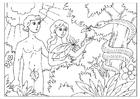 Målarbild Adam och Eva