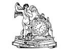 Målarbild ängel med klocka