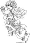 Målarbild ängel pÃ¥ alla hjärtans dag