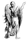 Målarbild ängel