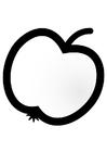 Målarbild äpple