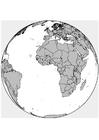 Målarbild Afrika - Europa