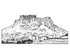 Målarbild Akropolis