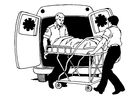 Målarbild ambulans