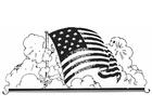 Målarbild amerikansk flagga