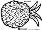 Målarbild Ananas
