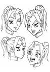 Målarbild ansikten - känslor