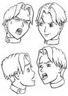 Målarbild ansiktsuttryck - känslor