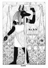 Målarbild Anubis