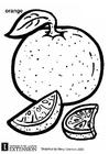 Målarbild Apelsin