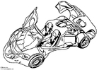 Målarbild Arex visningsbil